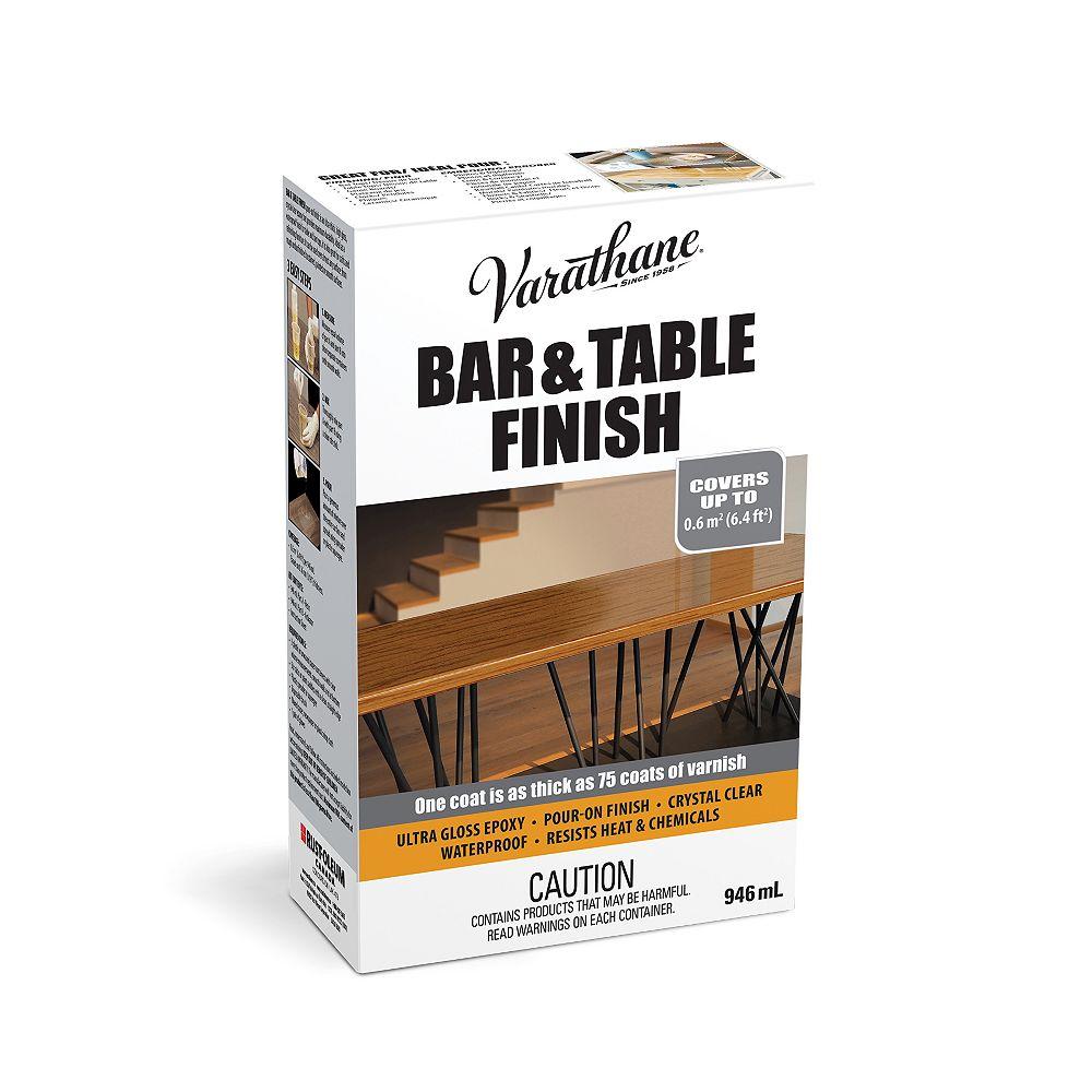 Varathane Barre et finition de table Verser de l'époxyde ultra épais dans du vernis ultra lustré transparent, 946 mL