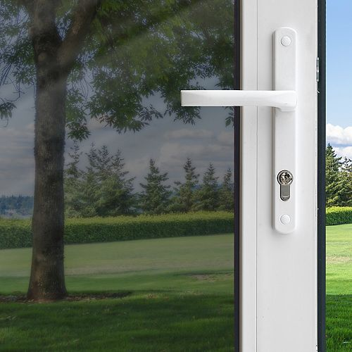 Pellicule pour fenêtre de contrôle de chaleur de couleur titane «peler et coller» de 91 cm x 198 cm