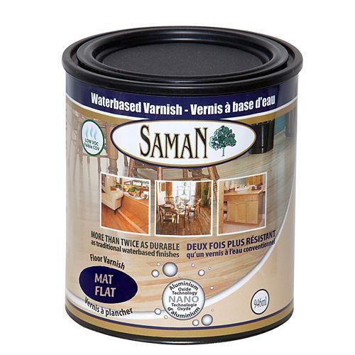 SamaN Vernis à base d'eau  mat 1L
