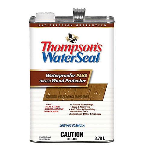 Imperméabilisant PLUS protecteur pour bois teinté Thompsons WaterSeal Faible en COV - Brun Muscade