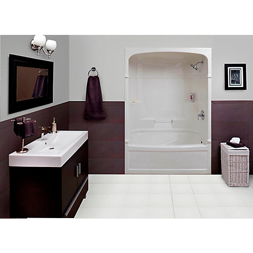 Empire 60 Inch 3-Piece Acrylic Tub And Shower Combination Whirlpool/Jet-Air