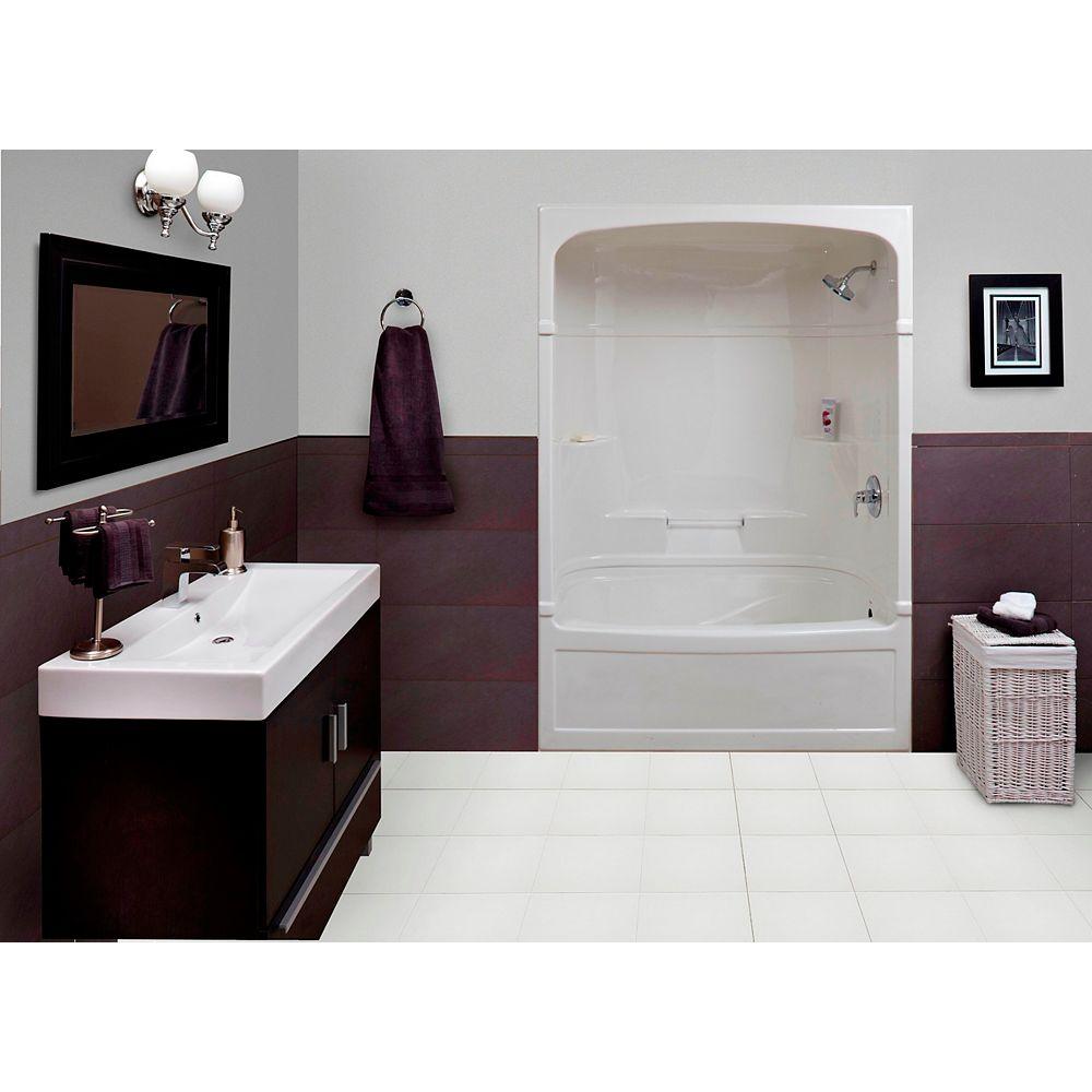 Mirolin Empire 59.5-inch x 86.25-inch x 32-inch 4-shelf Acrylic 3-Piece Right Hand Drain Tub & Shower
