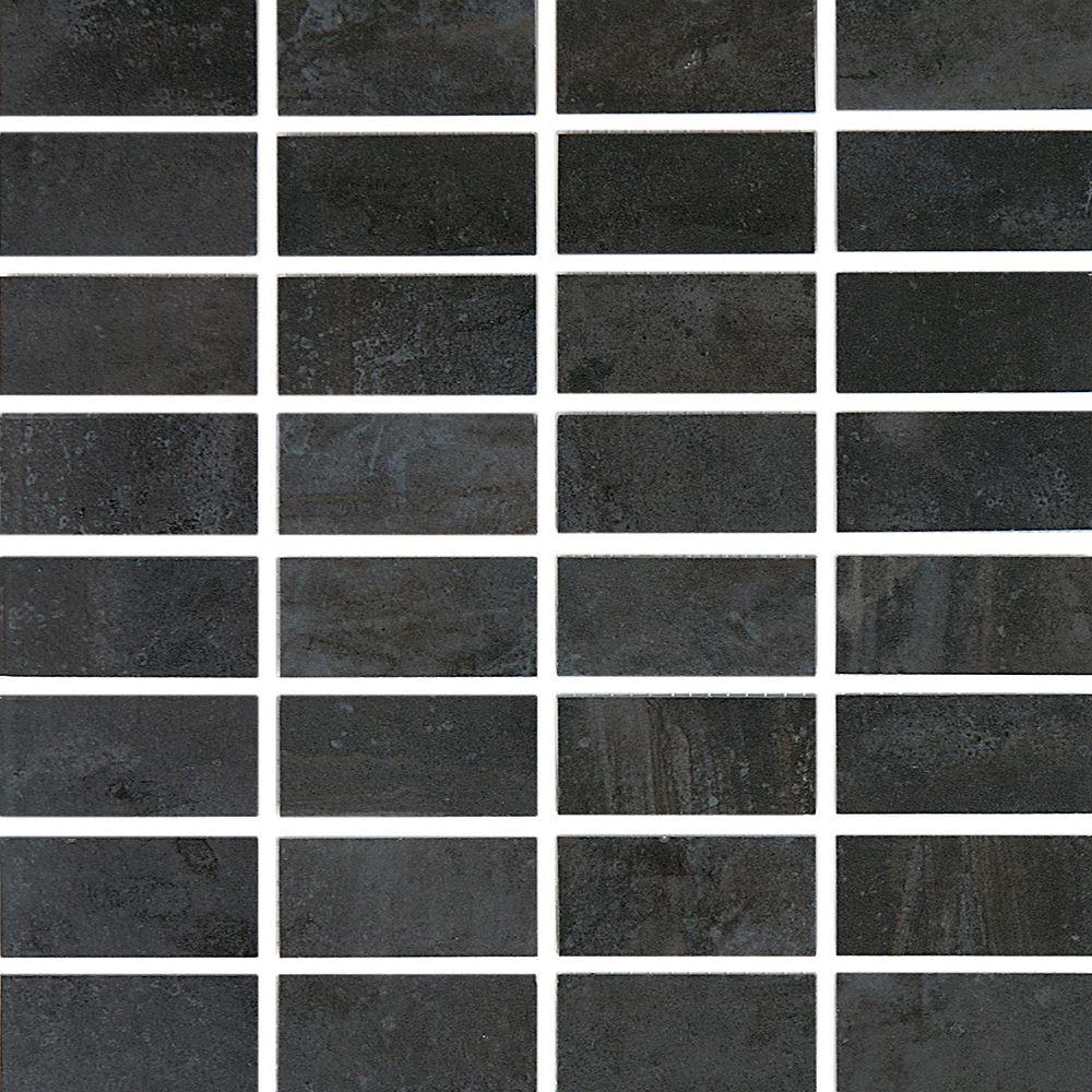 Eliane Cityscape T-1000 Carbon Glazed Porcelain Floor & Wall Mosaic Tile  - 12 Inch x 12 Inch Sheet