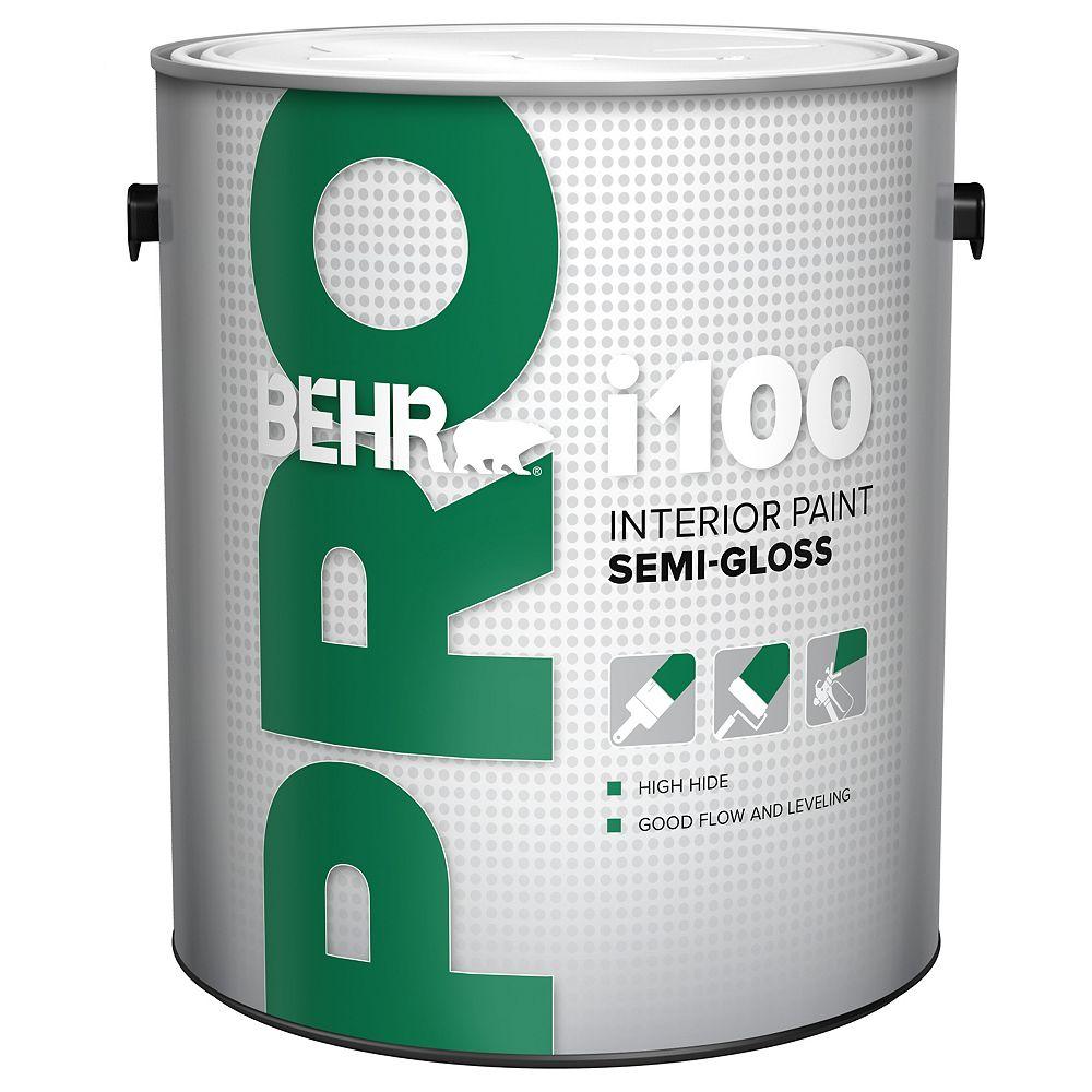 Behr Pro i100 Series, Interior Paint Semi-Gloss - White Base, 3.79 L
