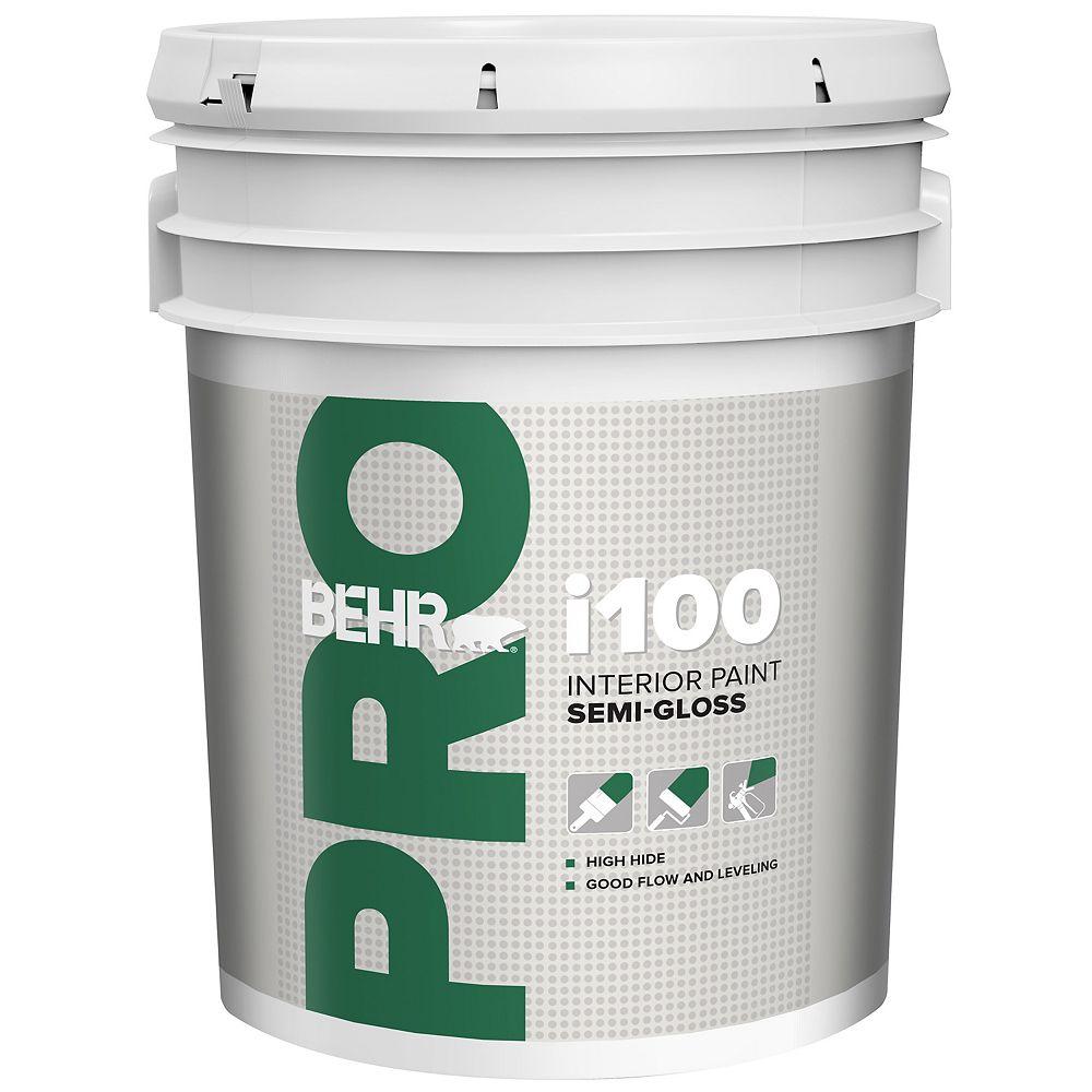 Behr Pro i100 Series, Interior Paint Semi-Gloss - White Base, 18.96 L