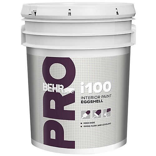 i100 Series, Interior Paint Eggshell - White Base, 18.96 L
