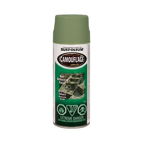 Rust-Oleum Specialty Camouflage Paint In Matte Army Green, 340 G Aerosol