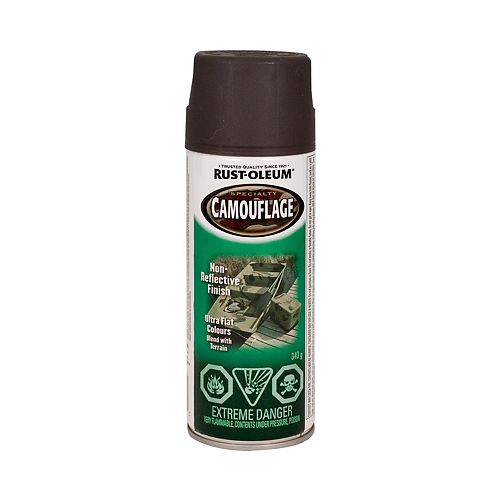 Rust-Oleum Specialty Camouflage Paint In Matte Earth Brown, 340 G Aerosol