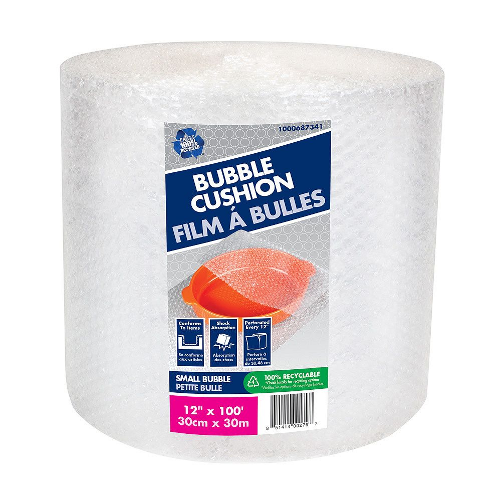 Pratt Retail Specialties Bubble Wrap 3/16-inch x 12-inch x 100 ft.