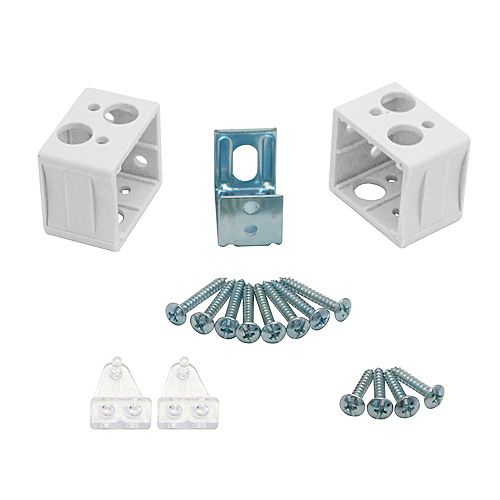 1 Inch LF PVC Blind Mounting/Hold Down Brackets