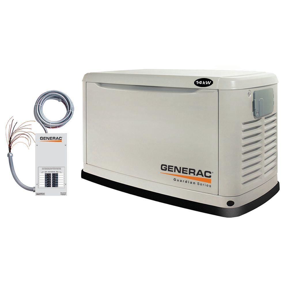 Generac Génératrice automatique de secours Generac Guardian 14 000 W (propane)/13 000 W (gaz naturel)