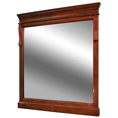 Naples 30-inch x 32-inch Wall Mirror in Warm Cinnamon