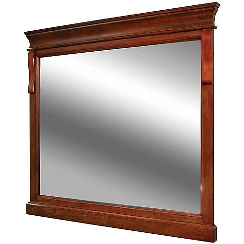 Naples 36-inch x 32-inch Wall Mirror in Warm Cinnamon