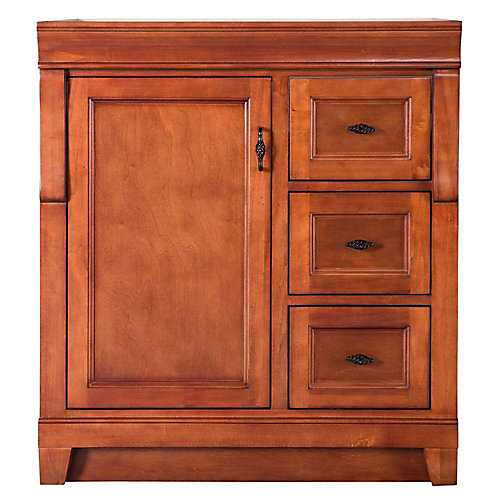Naples 30-inch W x 21.63-inch D Vanity Cabinet Only in Warm Cinnamon with Right Hand Drawers