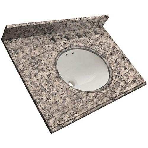 37-Inch W x 22-Inch D Granite Vanity Top in Sierra Ash