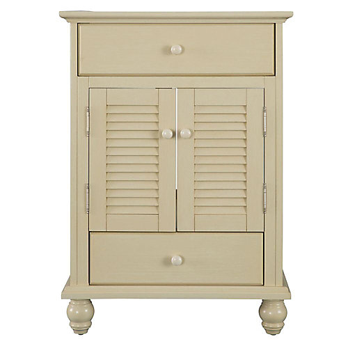 Cottage 24-inch W x 21-5/8-inch D x 34-inch H Vanity Cabinet Only in Antique White