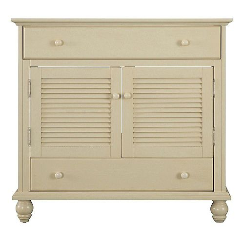 Cottage 36-inch W Bath Vanity Cabinet Only in Antique White