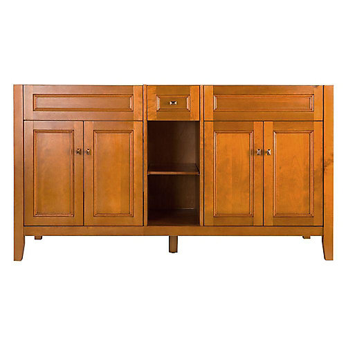 Exhibit 60-inch W x 34-inch H x 21-5/8-inch D Vanity Cabinet Only in Rich Cinnamon