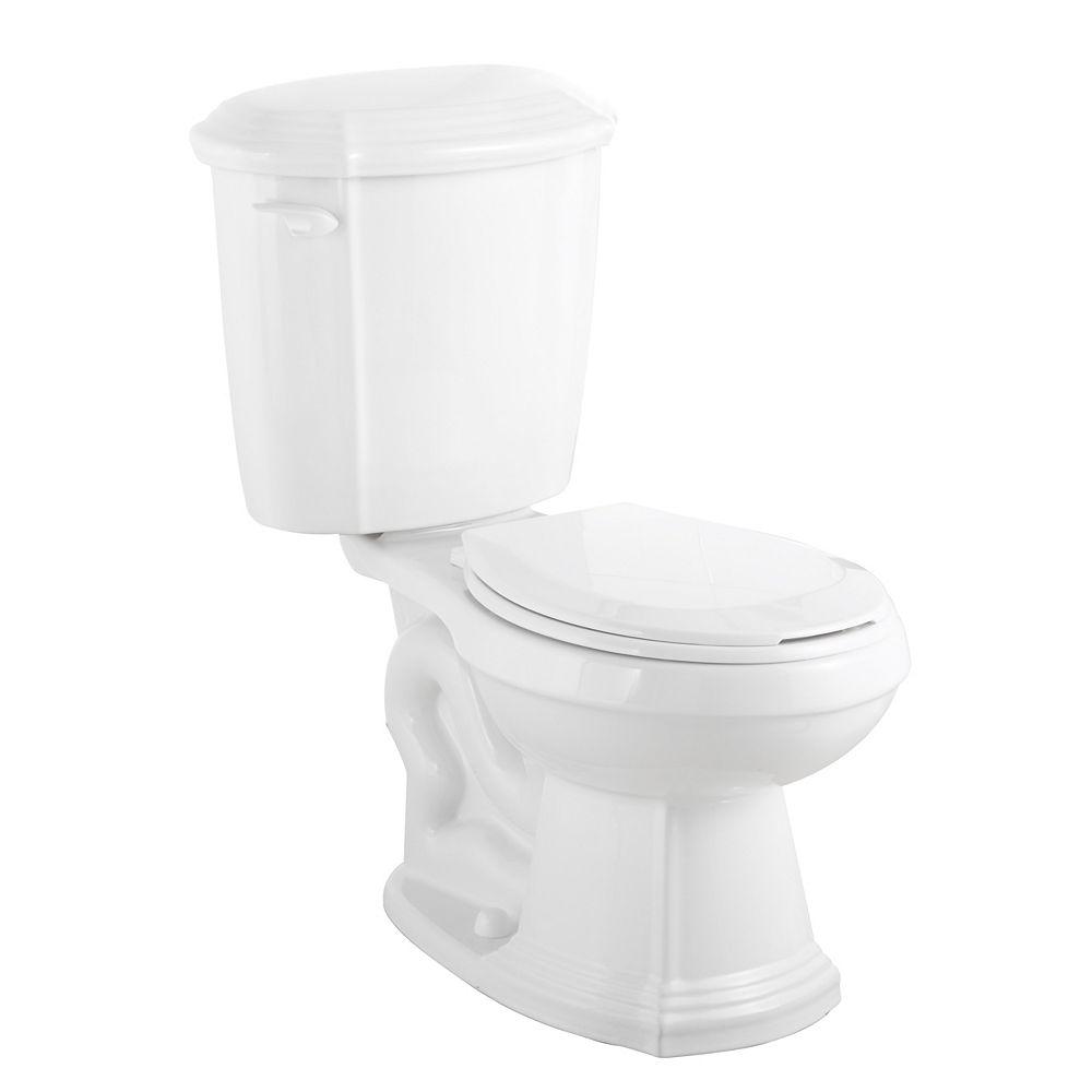 Glacier Bay Regent 2-Piece 4.8 LPF Single Flush Round Bowl Toilet