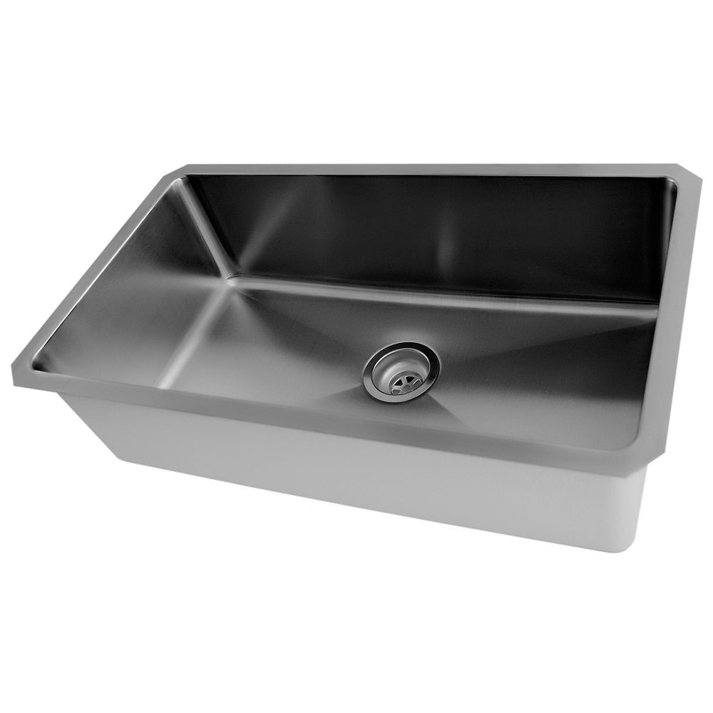 Acri Tec 30 X 18 Stainless Steel Undermount Kitchen Sink With Small Radius Corners The Home Depot Canada