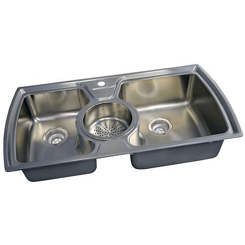 Acri-Tec Stainless Steel Double Bowl Kitchen Sink