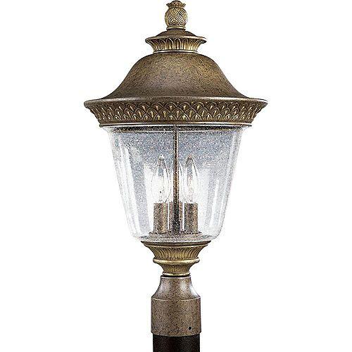 Lampadaire à 3 Lumières, Collection Savannah - fini Châtain Bruni