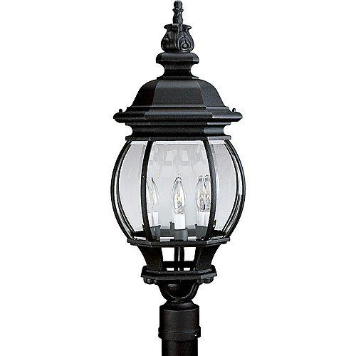 Lampadaire à 4 Lumières, Collection Onion Lantern - fini Noir Texturé