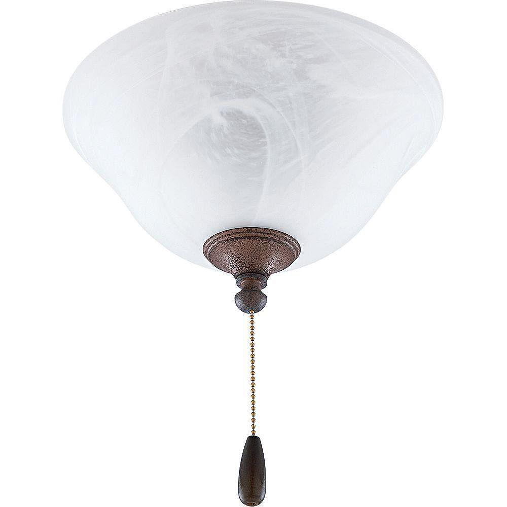 Progress Lighting Luminaire de ventilateur de plafond à 2 Lumières, Collection AirPro - fini Granit