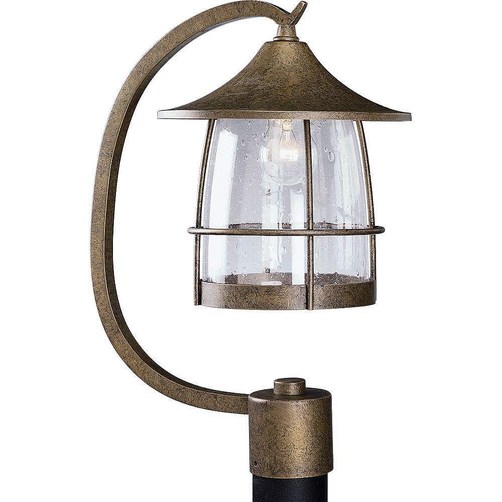 Progress Lighting Lampadaire à 1 Lumière, Collection Prairie - fini Châtain Bruni