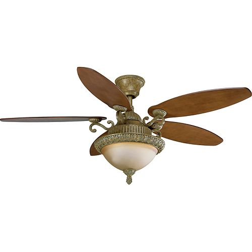54 In. Barcelona Collection Creme Brulee Ceiling Fan