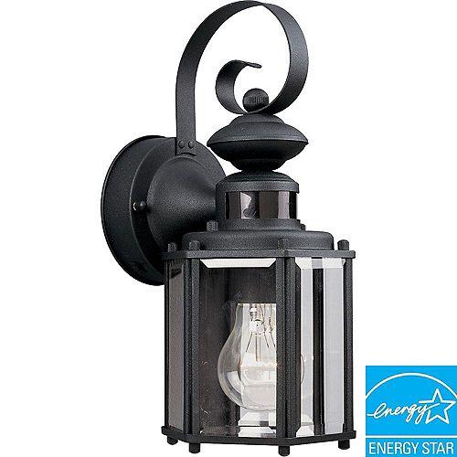 Motion Sensor Collection Black 1-light Wall Lantern