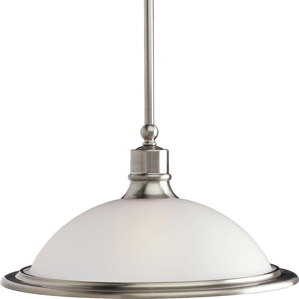 Progress Lighting Suspension à 1 Lumière, Collection Madison - fini Nickel Brossé