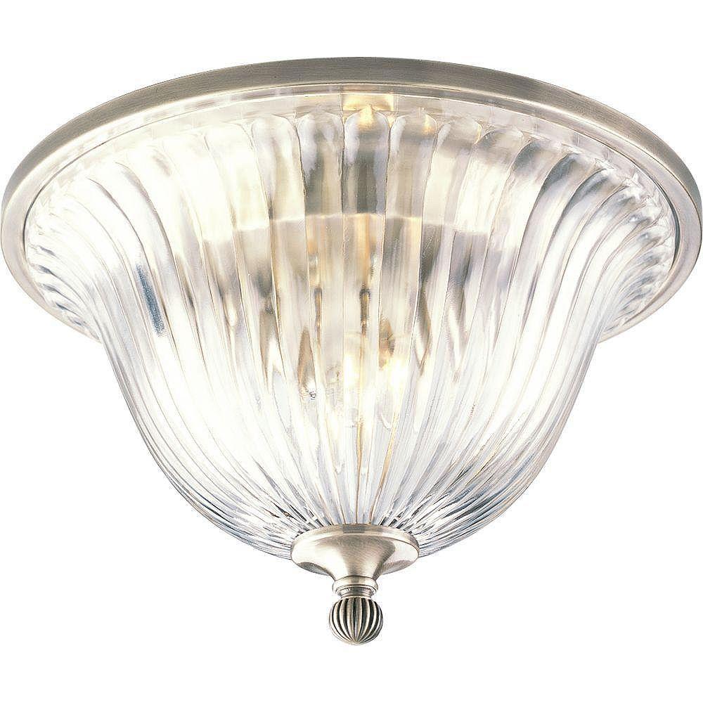 Progress Lighting Plafonnier à 2 Lumières, Collection Roxbury - fini Argent Classique
