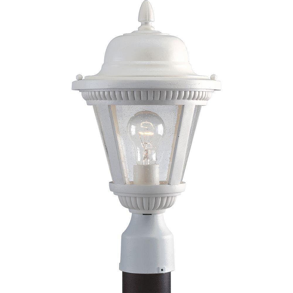 Progress Lighting Lampadaire à 1 Lumière, Collection Westport - fini Blanc
