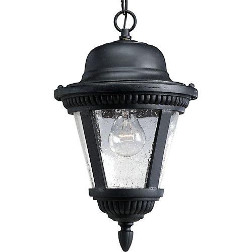 Lanterne suspendue à 1 Lumière, Collection Westport - fini Noir Texturé