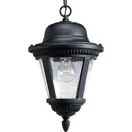 Westport Collection Textured Black 1-light Hanging Lantern