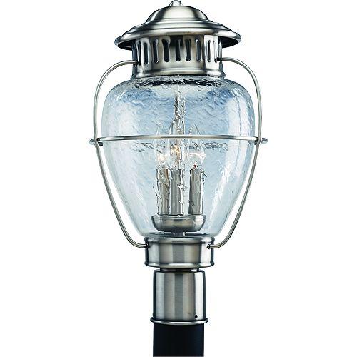 Lampadaire à 3 Lumières, Collection Nantucket - fini Argent Colonial