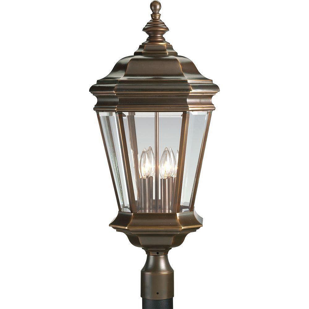 Progress Lighting Lampadaire à 4 Lumières, Collection Crawford - fini Bronze Lustre