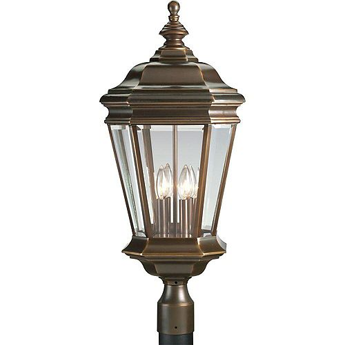 Lampadaire à 4 Lumières, Collection Crawford - fini Bronze Lustre