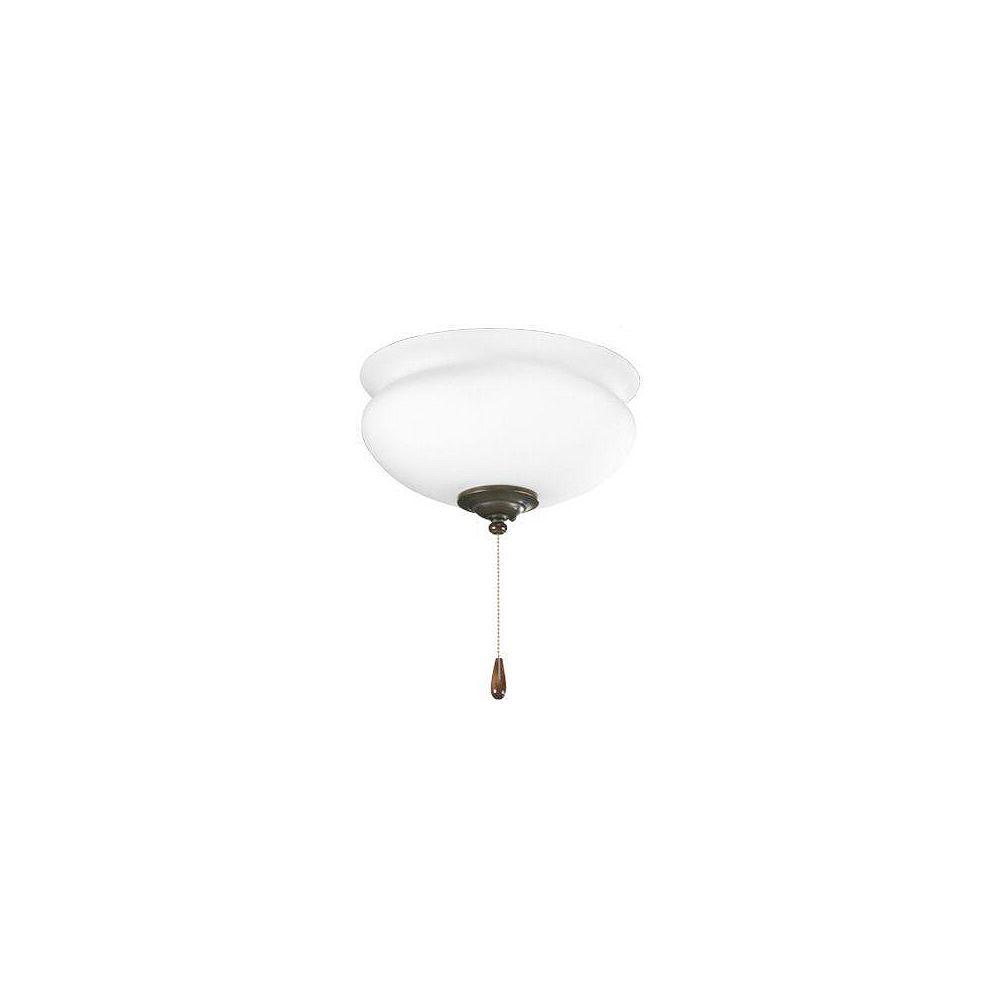 Progress Lighting Luminaire de ventilateur de plafond à 2 Lumières, Collection Lawford - fini Bronze à l'Ancienne