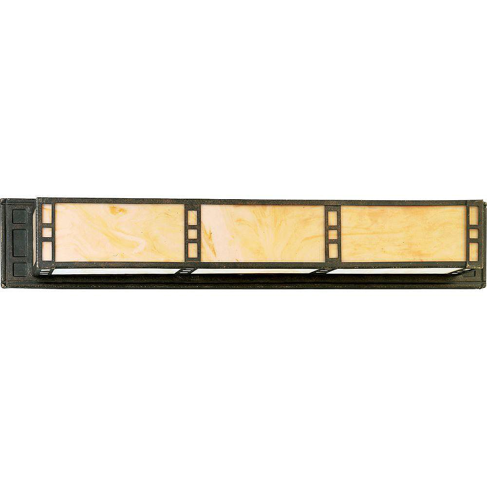 Progress Lighting Arts and Crafts Collection Weathered Bronze 3-light Wall Bracket