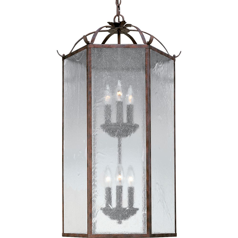 Progress Lighting Lustre à 2 lumières, Collection Oakmont, fini pierre de galet