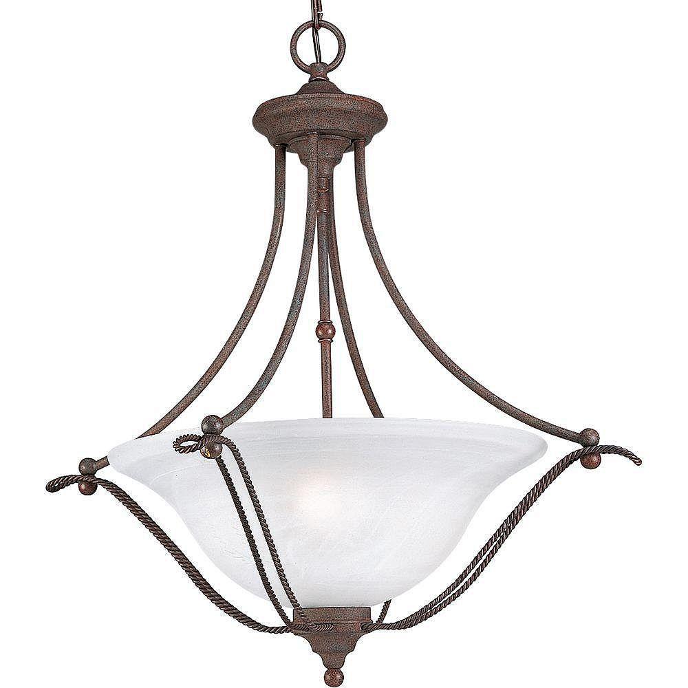 Progress Lighting Lustre à 3 Lumières, Collection Avalon - fini Granit