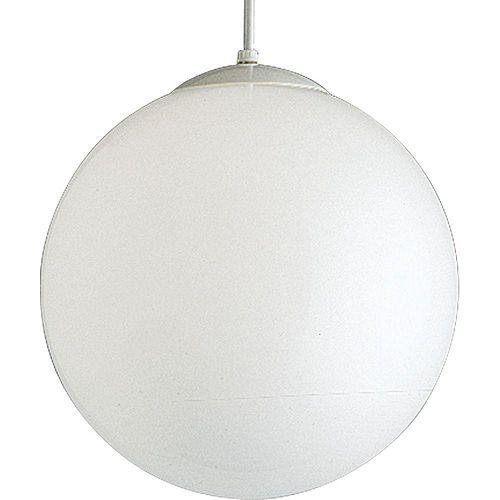 Suspension à 1 Lumière - fini Blanc