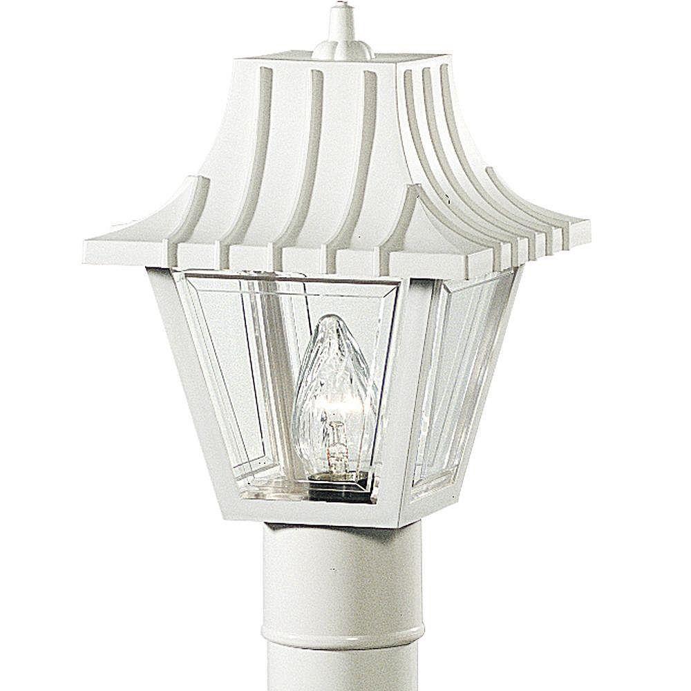 Progress Lighting Lampadaire à 1 Lumière, Collection Mansard - fini Blanc