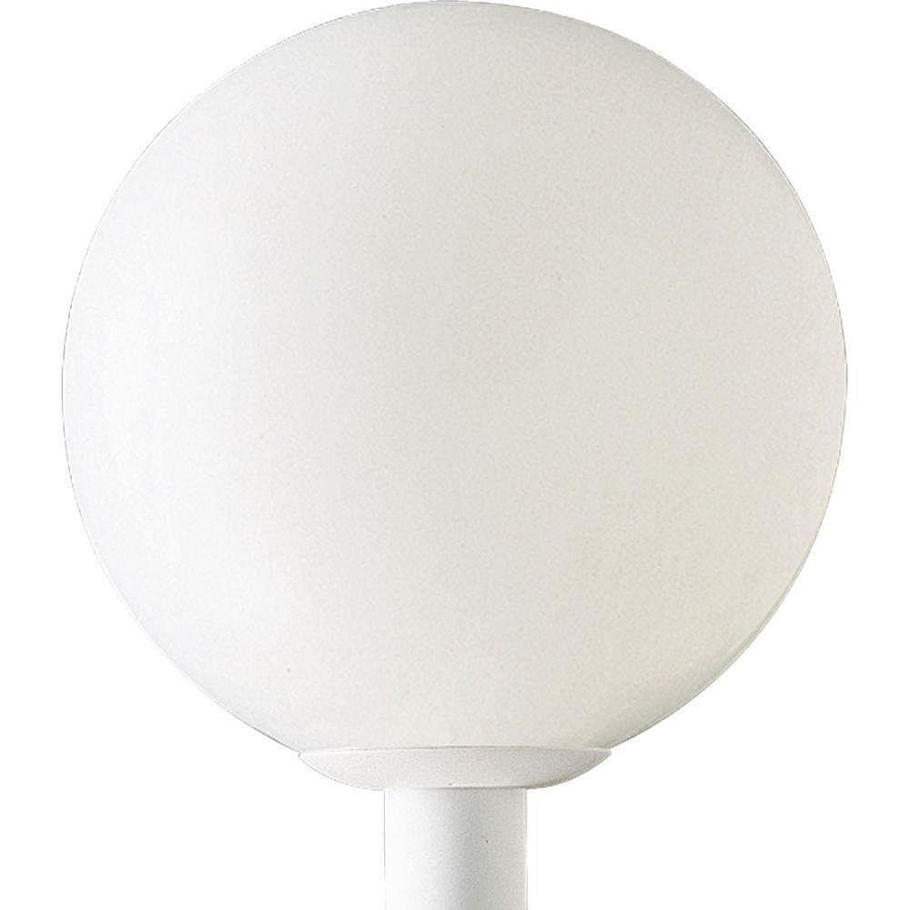 Progress Lighting Lampadaire à 1 Lumière, Collection Globe - fini Blanc