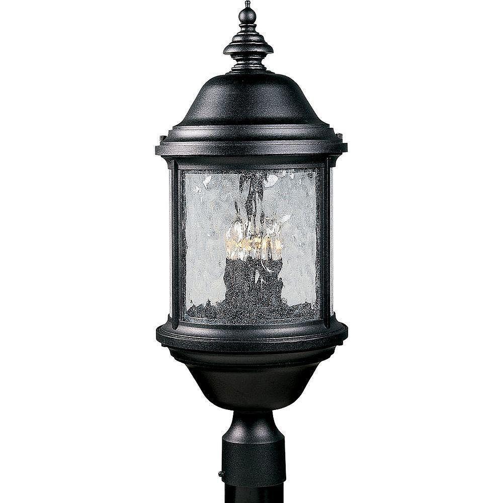Progress Lighting Lampadaire à 3 Lumières, Collection Ashmore - fini Noir Texturé