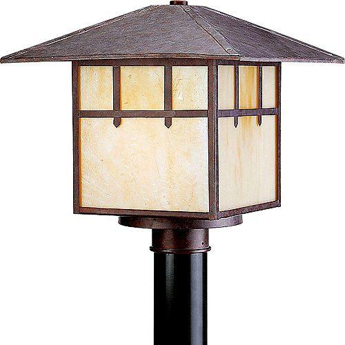 Lampadaire à 2 Lumières, Collection Mission - fini Granit