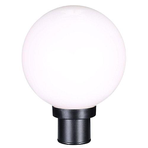 Globe Collection 1-Light Black Outdoor Post Lantern