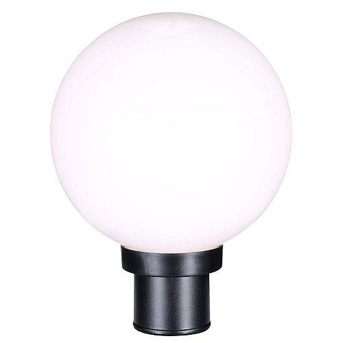 Lampadaire à 1 Lumière, Collection Globe - fini Noir
